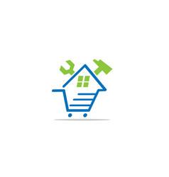 real estate house logo template design vector image