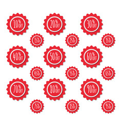red sale stickers collection set labels vector image