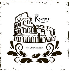 Rome the colosseum vector