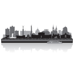 Samara city skyline silhouette vector