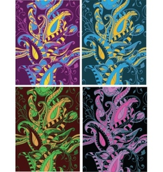 Seamless pattern beautiful paisley decorative vector image