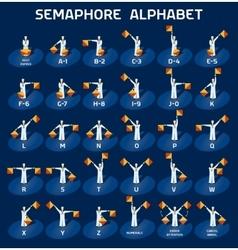 Semaphore alphabet flags vector