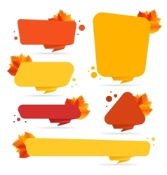 set banners with autumn leaves vector image
