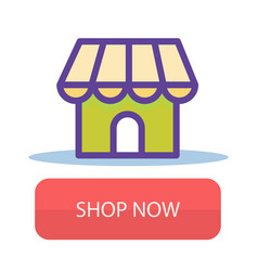 shop now store front background image vector image