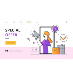 shopping apllication minimal style vector image