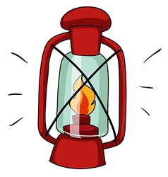 Simple design of camping lamp vector image