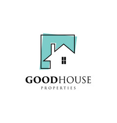Simple good house property logo symbol vector