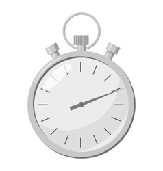 Stopwatch icon gray monochrome style vector image