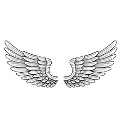 tattoo style wings vector image