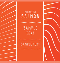 Texture red fish salmon bac vector