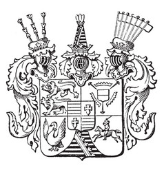 The great seal of schleswig-holstein is a german vector