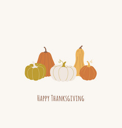 trendy hand drawn design with pumpkins vector image