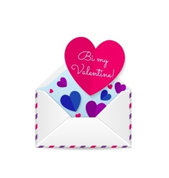 Valentines bisexual card vector