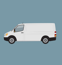 White cargo business van mock up for brand and vector