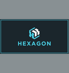 xk hexagon logo design inspiration vector image