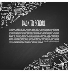 Banner back to school icons design vector