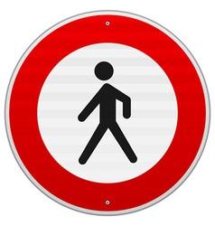 Entrance Forbidden Sign vector image