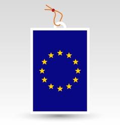 european union tag vector image vector image