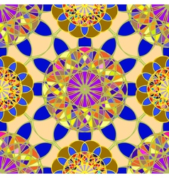 Kaleidoscope diamond on a background of leaves vector image vector image