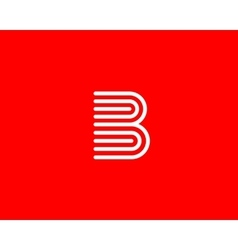Line letter B logotype Abstract moving airy logo vector image vector image