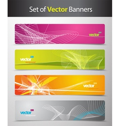 set of abstract colorful web headers vector image