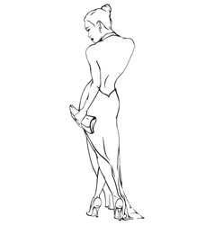 Woman evening dress vector image vector image