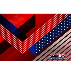 american flag geometric background vector image vector image