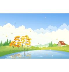 Autumn day scene vector image