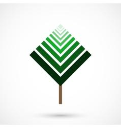 Geometrical tree vector image vector image