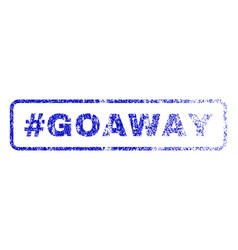 hashtag goaway rubber stamp vector image vector image