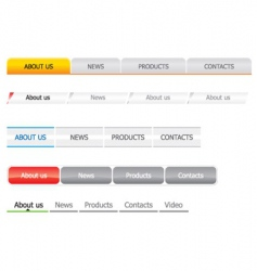 navigation bar templates vector image