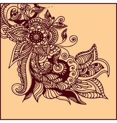 tattoo henna vector image vector image