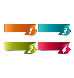 4 number banners vector image