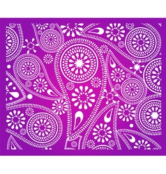 Abstract paisley flower background vector image vector image