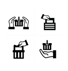 delivery shopping icon set vector image vector image