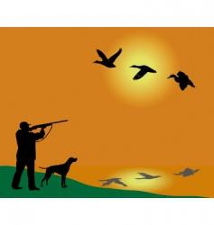 duck hunter vector image vector image