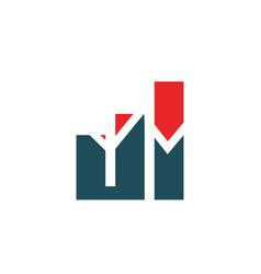 finance logo and symbols concept vector image