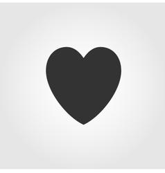 Heart icon flat design vector image vector image