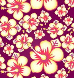 hibiscus seamless pattern vector image vector image