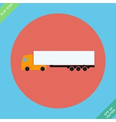 Icon trucks with refrigerator - vector image vector image