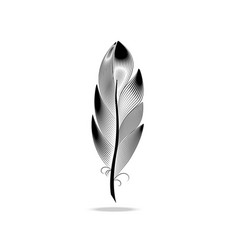 large wide black and white pen vector image