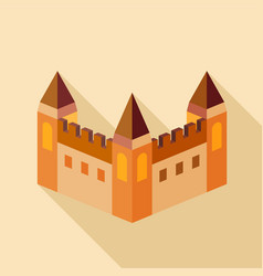medieval fortification icon flat style vector image vector image