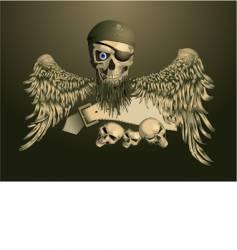 piracy skul vector image vector image