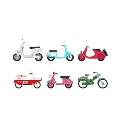 Retro motorbike set vector image