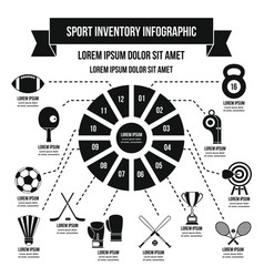 sport inventory infographic concept simple style vector image