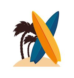 surfboard sport summer icon vector image vector image