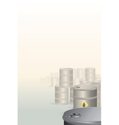 background with oil barrels vector image vector image