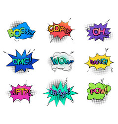 comic bubble speeches and sounds vector image