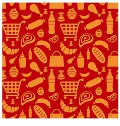 food pattern vector image