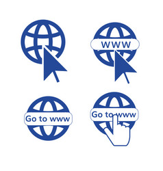 go to web set of icons vector image